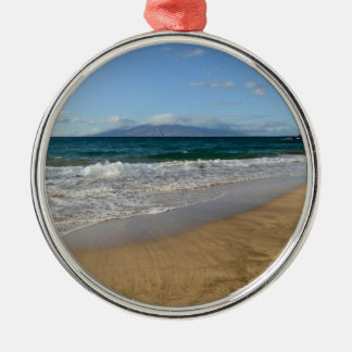 Komohana Volcano in Maui Hawaii Silver-Colored Round Decoration