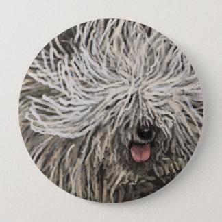Komondor called Marlet 10 Cm Round Badge