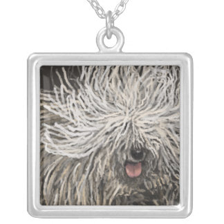 Komondor called Marlet Silver Plated Necklace