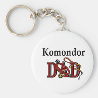 Komondor DAD Gifts Key Ring
