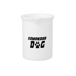 KOMONDOR DOG DESIGNS PITCHER