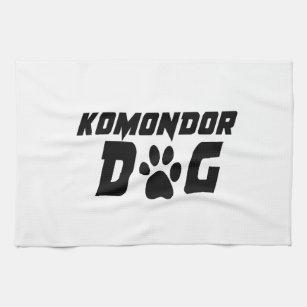 KOMONDOR DOG DESIGNS TEA TOWEL