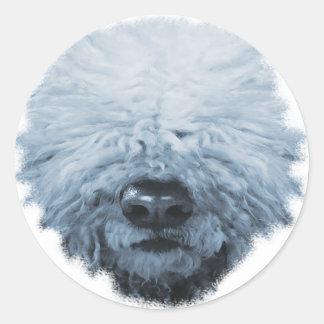 Komondor Dog Round Stickers