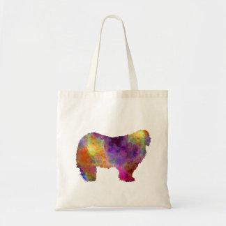 Komondor in watercolor tote bag