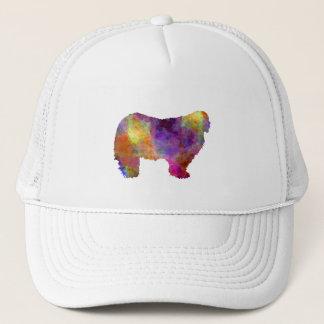 Komondor in watercolor trucker hat