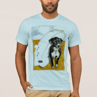Kona and his Surfboard T-Shirt