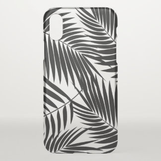 Kona Palms Hawaiian Leaf Tropical Black iPhone X Case