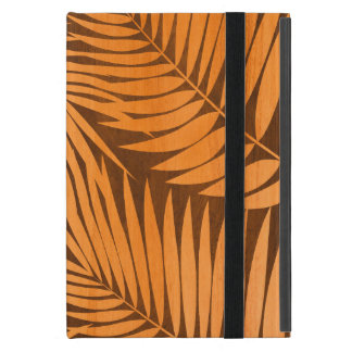 Kona Palms Hawaiian Leaf Tropical Faux Wood iPad Mini Case