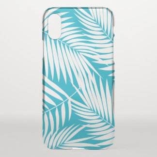 Kona Palms Hawaiian Leaf Tropical Teal iPhone X Case