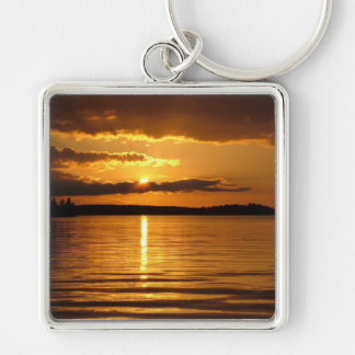 Konnevesi Sunset premium key chain