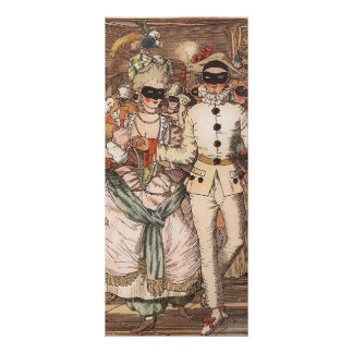 Konstantin Somov Book of Marquise Illustration 8 Rack Card