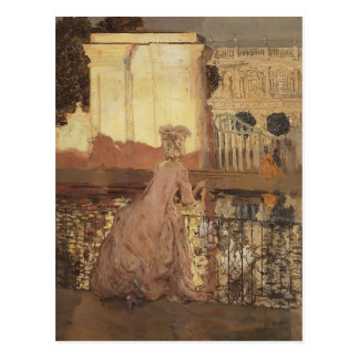 Konstantin Somov- Lady by the Pool Postcard