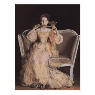 Konstantin Somov- Lady in Pink Postcard