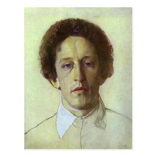 Konstantin Somov- Portrait of Aleksandr  Blok Postcard