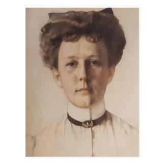 Konstantin Somov- Portrait of Baroness Nolde Postcard