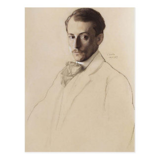 Konstantin Somov- Portrait of Eugine Lanceray Postcard