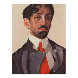 Konstantin Somov- Portrait of Mikhail Kuzmin Postcard