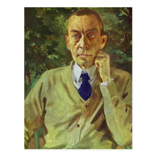 Konstantin Somov- Portrait of the composer Sergei Postcard