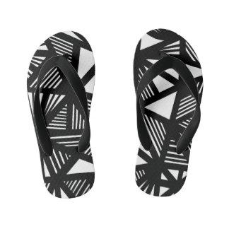 """Kontos"" Adult Flip Flops Black and White"