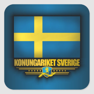 Konungariket Sverige Square Sticker