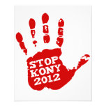 Kony 2012 Handprint Stop Joseph Kony 11.5 Cm X 14 Cm Flyer