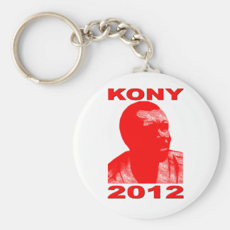 Kony 2012. Make Invisible Children Visible. Now. Basic Round Button Key Ring