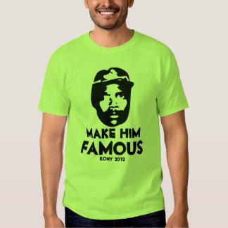 kony 2012 pop art make him famous shirts
