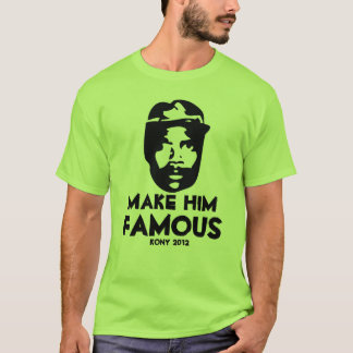 kony 2012 pop art make him famous T-Shirt