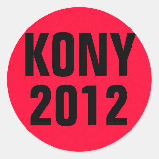 KONY 2012 Red Classic Round Sticker
