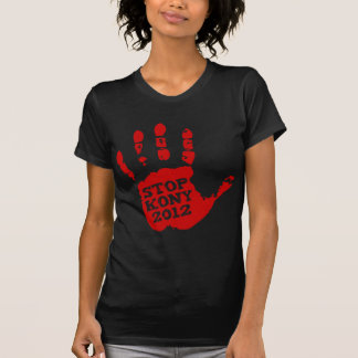 Kony 2012 Red Handprint Stop Joseph Kony Tee Shirts