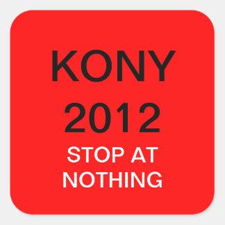 KONY 2012 SQUARE STICKER