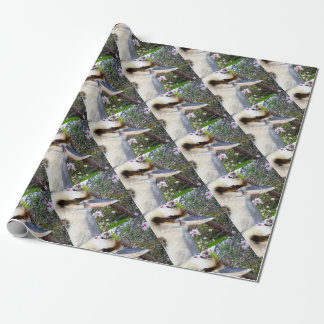 Kookaburra Beside A Blossom Tree, Wrapping Paper