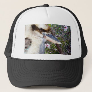 Kookaburra Beside Blossom Tree, Trucker Hat