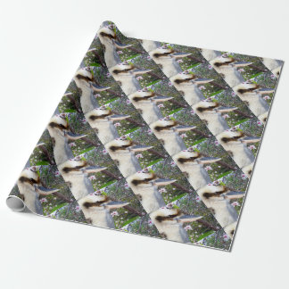 Kookaburra Beside Blossom Tree, Wrapping Paper