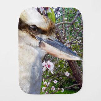 kookaburra_Blossoms,_ Burp Cloth