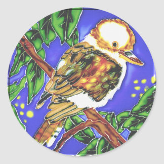 Kookaburra, Cockatoo & Parrot T-Shirts and Gifts! Round Sticker