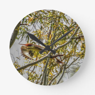 KOOKABURRA IN FLIGHT AUSTRALIA ART EFFECTS ROUND CLOCK