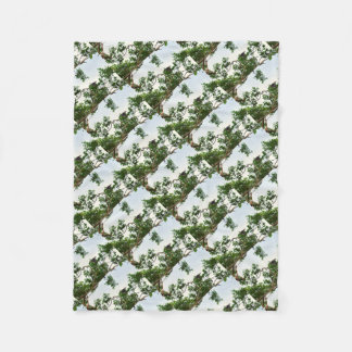 KOOKABURRA IN FLIGHT QUEENSLAND AUSTRALIA FLEECE BLANKET