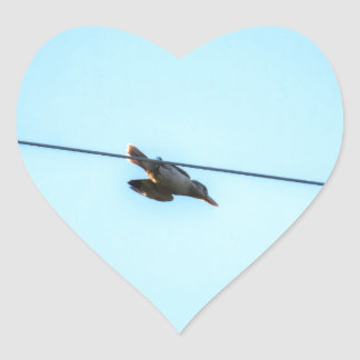 KOOKABURRA IN FLIGHT QUEENSLAND AUSTRALIA HEART STICKER