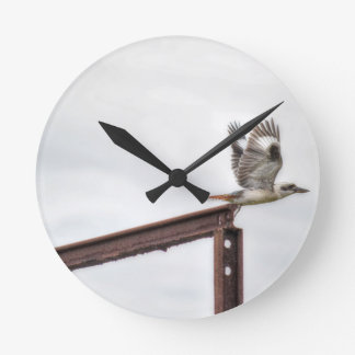 KOOKABURRA IN FLIGHT QUEENSLAND AUSTRALIA WALL CLOCKS