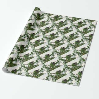 KOOKABURRA IN FLIGHT QUEENSLAND AUSTRALIA WRAPPING PAPER