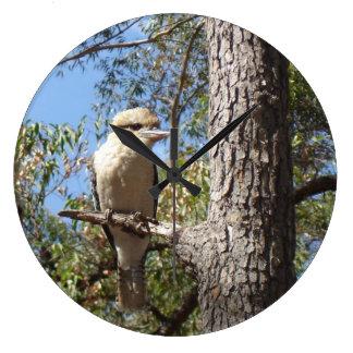 Kookaburra in tree wall clocks