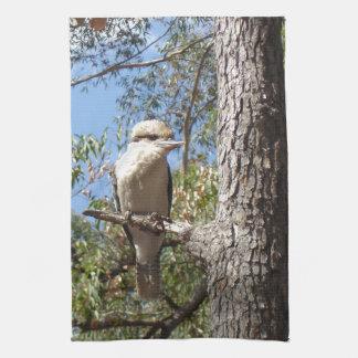 Kookaburra in tree tea towel