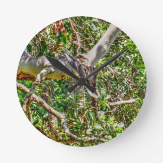 KOOKABURRA QUEENSLAND AUSTRALIA ART EFFECTS WALLCLOCK