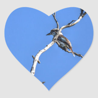 KOOKABURRA QUEENSLAND AUSTRALIA WITH ART EFFECTS HEART STICKER