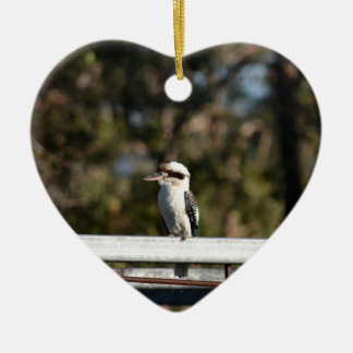 KOOKABURRA RURAL QUEENSLAND AUSTRALIA CERAMIC HEART DECORATION