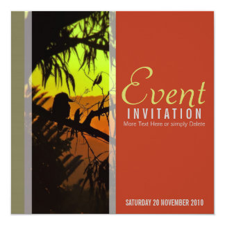 Kookaburra Silhouette All Occasion Invitation