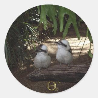 Kookaburras Laughing Round Sticker