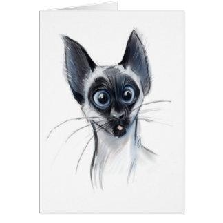 Kooky Siamese Cat Card