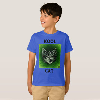 Kool Cat Cool Unisex Kids and Baby Animal Graphic T-Shirt